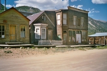 Abandoned ghost town St Elmo Colorado