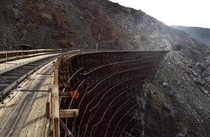 Abandoned Goat Canyon Trestle built after an earthquake in  holds the record for the largest wooden bridge in the world