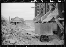 Abandoned gold mine Goldfield Nevada March  by Arthur Rothstein