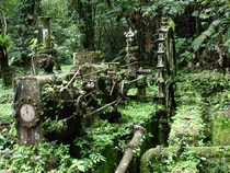 Abandoned gold mine in Panama being reclaimed by the jungle