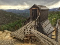 Abandoned gold mine in the Rocky Mountains x