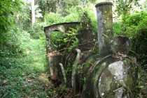 Abandoned Gold Mine Locomotive Darien Gap Panama