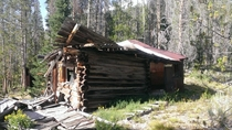 Abandoned gold prospectorminer shack near the ghost town of Custer ID x