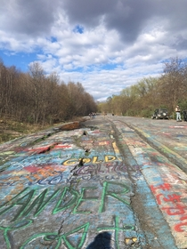 Abandoned Graffiti Highway Centralia PA