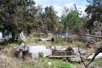 Abandoned graves at the old cemetery at the Sanctuary of Sacromonte Amecameca Mexico State