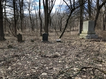 Abandoned graveyard from the French and Indian war