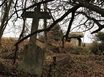 Abandoned graveyard with ancient portal tomb Co Waterford Ireland