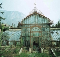 Abandoned greenhouse