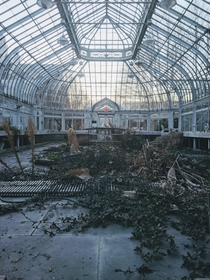 Abandoned greenhouse in Montreal Quebec