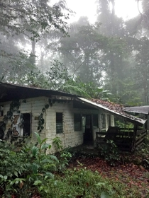 Abandoned guesthouse in Suriname jungle
