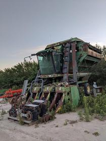 Abandoned harvester and mortor cycles