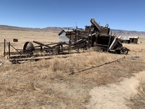 Abandoned Harvester - Carrizo Plain