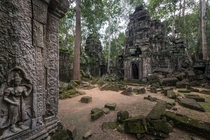 Abandoned haunted temple in Cambodia