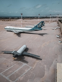 Abandoned Helleniko International Airport The last commercial aircraft to depart from the Helleniko airport was an Olympic Air Boeing  headed for Thessaloniki Closed in  Seven abandoned airplanes are found at the sites southeast corner today