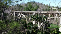 Abandoned High Bridge over Green River Gorge in NC
