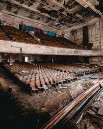 Abandoned high school auditorium