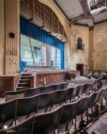 Abandoned High School Auditorium Midwest USA  IG the_sparkler
