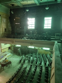 Abandoned highschool auditorium in Shenandoah PA