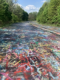 Abandoned highway Centralia PA USA