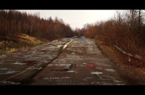 Abandoned highway covered in graffiti Centralia PA