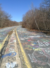 Abandoned highway located near Centralia PA