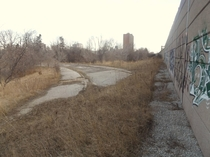 Abandoned highway on-ramp in Toronto ON