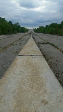 Abandoned Highway Outside of Tulsa OK