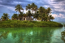 Abandoned home in the Florida Keys on its own personal island Photo by among the ruin