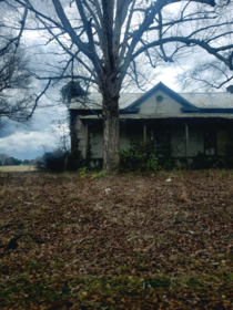 Abandoned home near my house It was extra creepy the day I took this picture