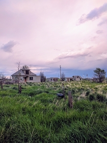 Abandoned home near Wheatland Wyoming First time out on the grasslands and seeing the storm clouds build