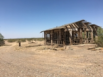 Abandoned home returning to the desert Pinal County Southern Arizona