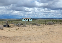 Abandoned homestead on the road to Chaco Canyon New Mexico