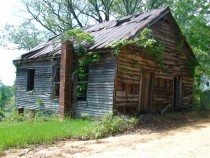 Abandoned Hopewell Missionary Church x in South Dallas County Alabama