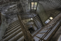 Abandoned Hospital Stairwell by Andrea Pesce