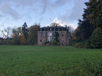 Abandoned Hotel-Chateau de le Cense au Bois approx  year after my first picture there Near Mons Belgium