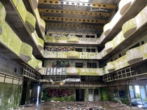 Abandoned hotel in Azores Portugal
