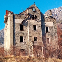 Abandoned hotel in Italian Alps