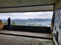 Abandoned hotel in the Azores So Miguel over looking the caldera I asked her to marry me right after this was taken