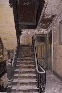 Abandoned Hotel staircase in the French Quarter New Orleans