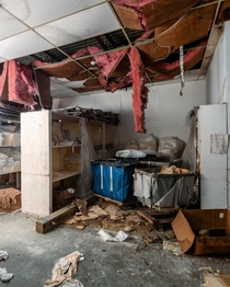 Abandoned hotel supply room