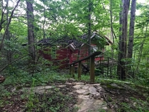 Abandoned house in a remote part of The Great Smoky mountains