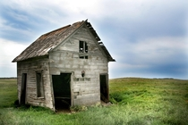 Abandoned house in North Dakota farm country