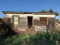 Abandoned house in the Dungeness near the city of Sequim WA USA