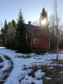 Abandoned house in the Swedish countryside