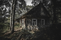 abandoned house inside the stechanka village at the chernobyl exclusion zone