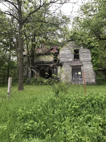 Abandoned house just outside of the city of Gotham Wisconsin