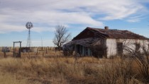 Abandoned house near Marfa TX Closest thing to a ghost town Ive ever seen