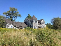Abandoned house near Searsport Maine USA