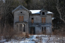 Abandoned house on a long stretch of highway in CT photographed by my dad