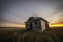 Abandoned house on the Midwestern prairie
